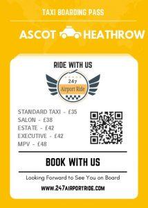 Ascot to heathrow price