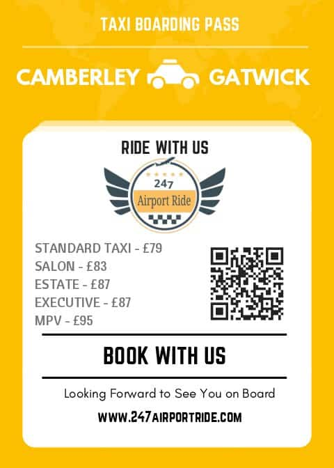 camberley to gatwick price