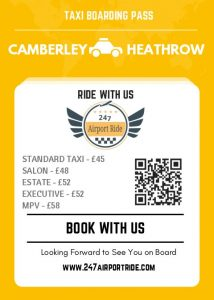 camberley to heathrow price