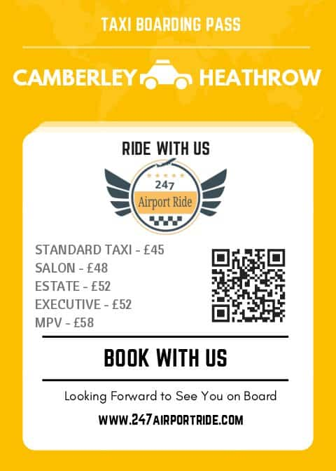 camberley to heathrow price