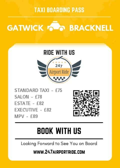 gatwick to bracknell price