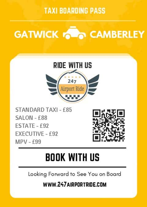gatwick to camberley price