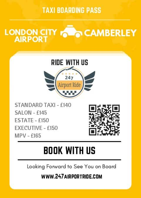 london city airport to camberley price