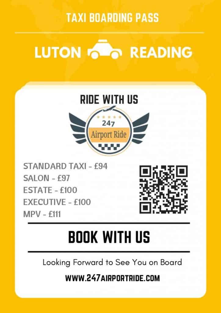 luton to reading price